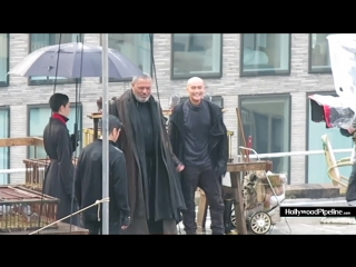BTS John Wick 3 Filming - Laurence Fishburne and Mark Dacascos Rooftop Sword Scene