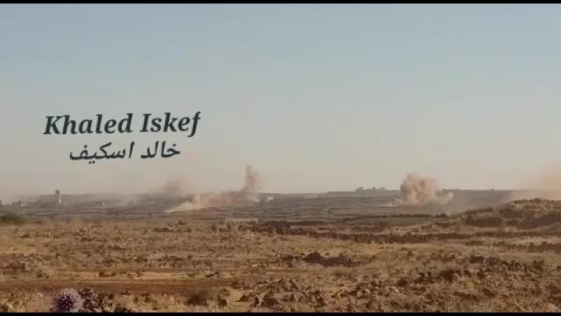 23.06.18 - артобстрел деревни Аш-Шумра (регион Аль-Ладжа)