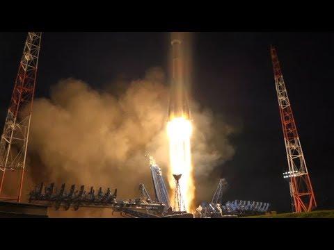 Пуск ракеты «Союз-2.1Б» на космодроме Плесецк (17 июня 2018 г.)