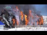 Пожар в Волжске. Сгорел деревянный барак по адресу: ул.Ленина, 5