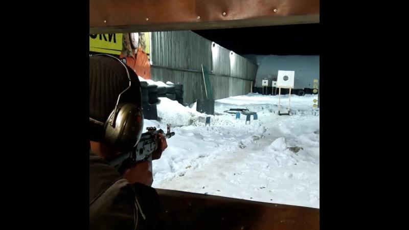 Выстрел из Сайги 20К