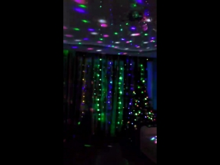 диско шар + шторы гирлянда