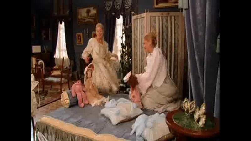 Бедная Настя - Лиза и Таня развлекаются попутно Таня шьет свадебное платье Лизе(club_role_play_bednaya_nastya)