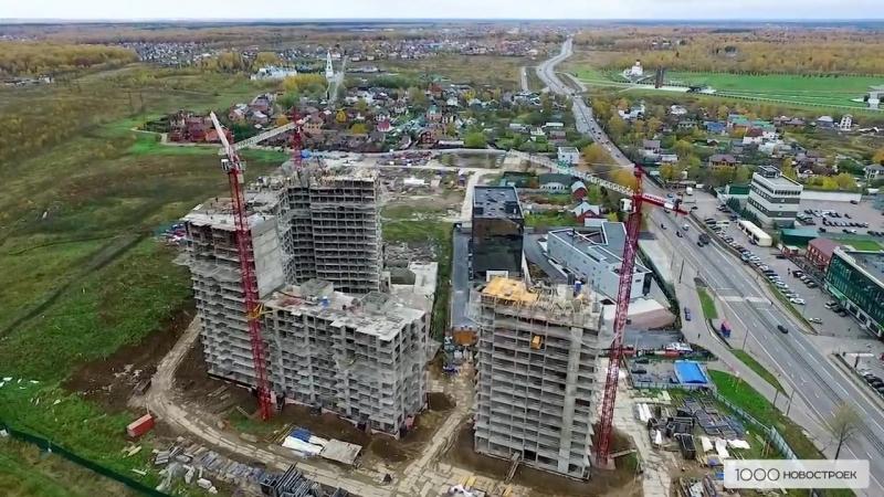 ЖК UP Квартал Скандинавский (аэрофотосъемка от 16 октября 2017)