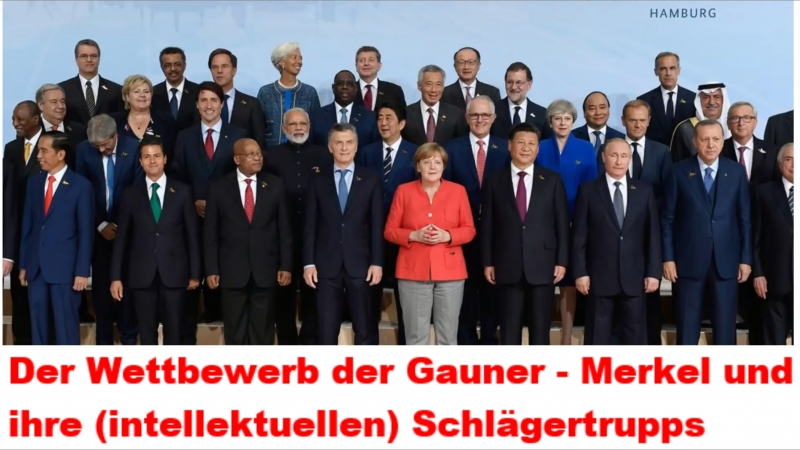 Der Wettbewerb der Gauner - Merkel und ihre (intellektuellen) Schlägertrupps