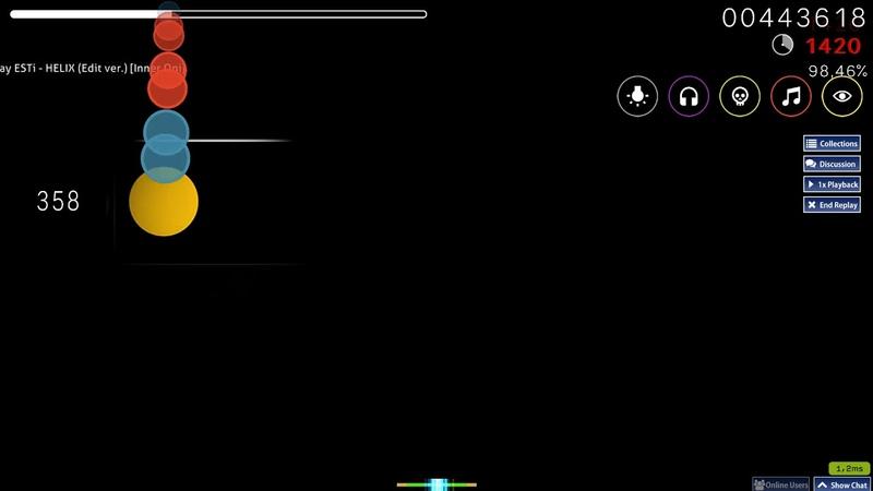 Osu taiko n1doking ESTi HELIX Edit ver Inner Oni HD HR NC FL SD 98 75% 1 785pp