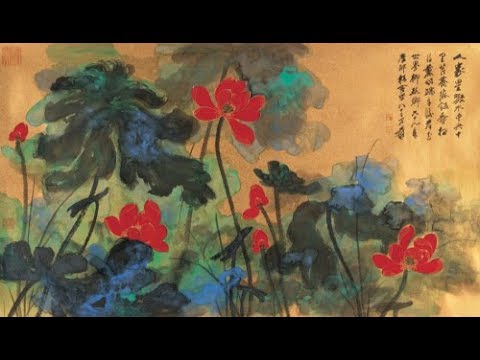 1976年,張大千現場作畫全程視頻,太難得了!CHang Dai-chien