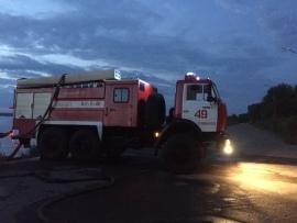 """В осташковском """"рабочем городке"""" полностью сгорел дом"""