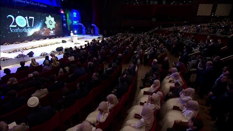 Cumhurbaşkanı Recep Tayyip ERDOĞAN Kutlu Doğum Programı (İstanbul Kongre Merkezi) 22.04.2017