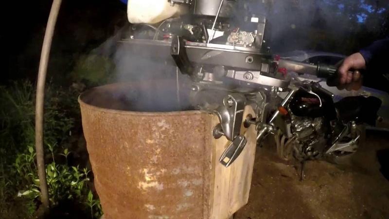 Сборка Лодочного мотора Tohatsu 5 л с после утопления 6ч Проверка