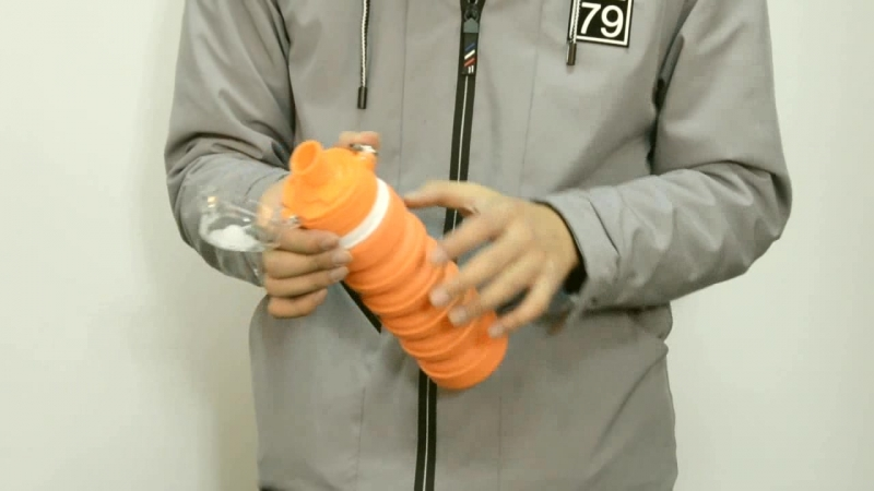 Складная бутылка для воды оптом, силиконовая складная бутылка заводская на заказ