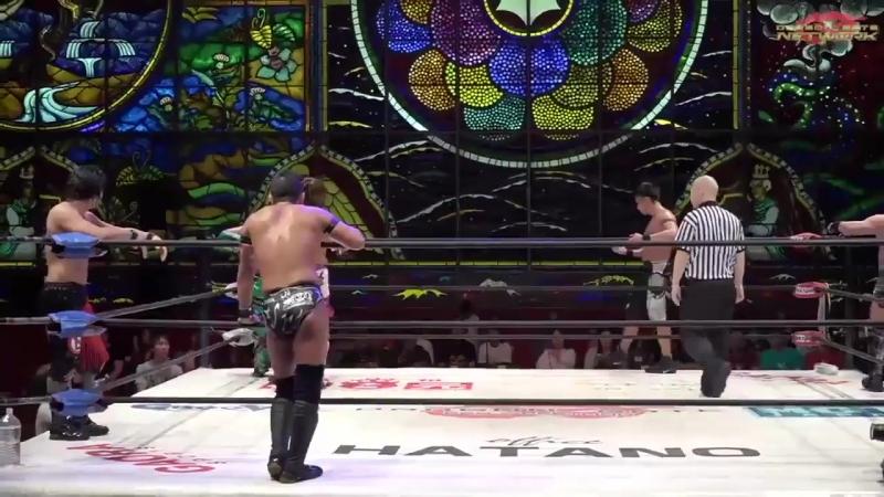 Naruki Doi, Dragon Kid, Eita vs. Masato Yoshino, Susumu Yokosuka, KAGETORA (Dragon Gate - The Gate of Passion 2018 - Day 16)