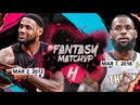 Fantasy Match Up 2012 Miami LeBron James vs 2018 Cavs LeBron UNREAL CLUTCH Duel Highlights
