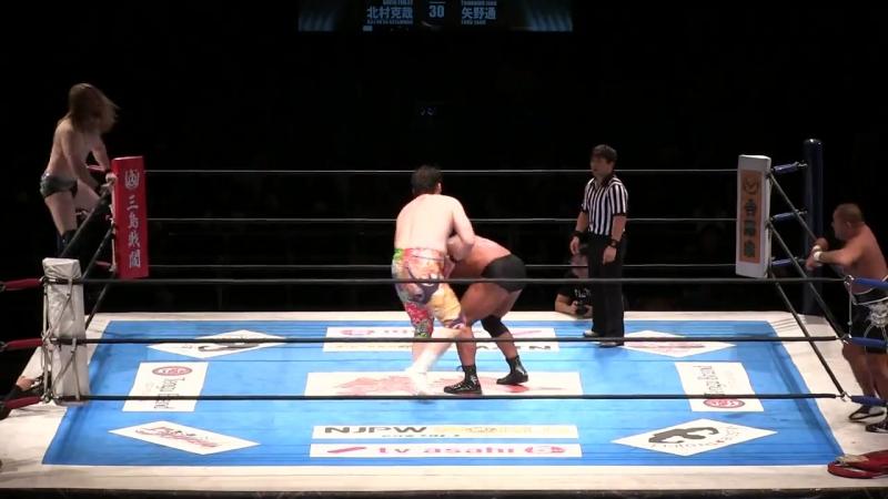 [My1] Ворлд Тэг. Блок Б - Tomohiro Ishii Toru Yano vs. David Finlay Katsuya Kitamura