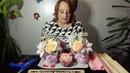 Подробный Мастер класс 3 х цветная роза из конфетки и гофробумаги