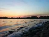 Рассвет. Пляж Дельфин. Новокузнецк
