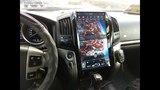 Огромный телевизор для Крузака! Штатная магнитола в стиле Тесла для Тойота Ленд Крузер 200