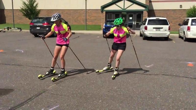 Cross-Country Ski Agility Skill Test - Girls