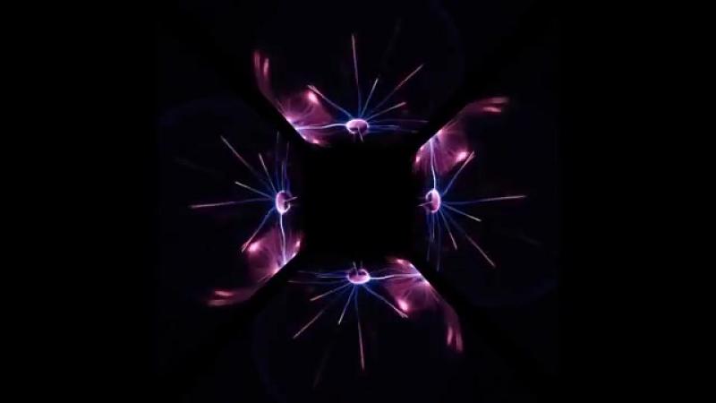 ПЛАЗМА видео для голографической 3D пирамиды