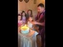 Торт на празднике у Насти!