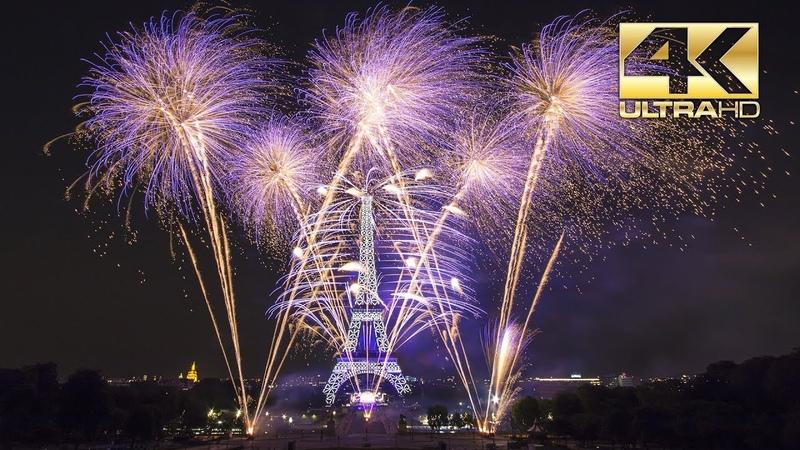 ⁽⁴ᴷ⁾ Paris 2018 Feu d'artifice Tour Eiffel Quatorze Juillet Fête nationale Groupe F