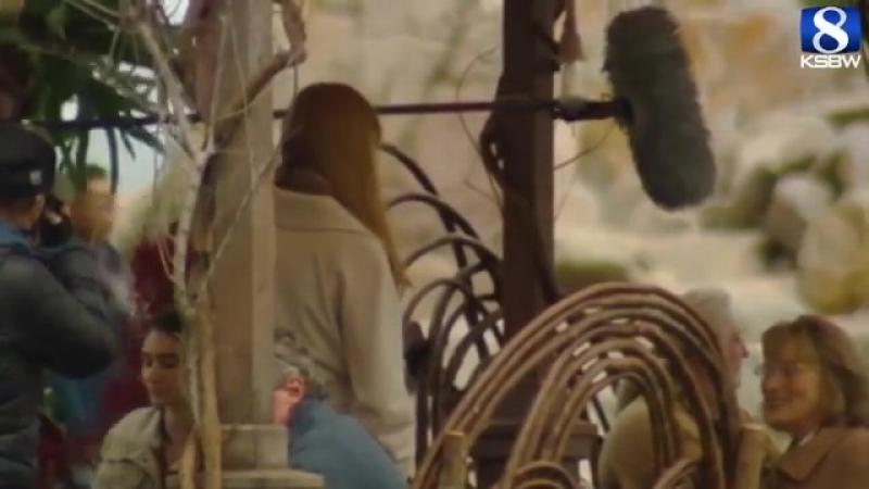 Мерил Стрип, Николь Кидман и Риз Уизерспун на съемках сериала
