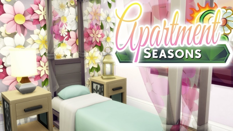 SUMMER FLORALS APARTMENT Renovation | The Sims 4: SEASONS (No CC) Speed Build