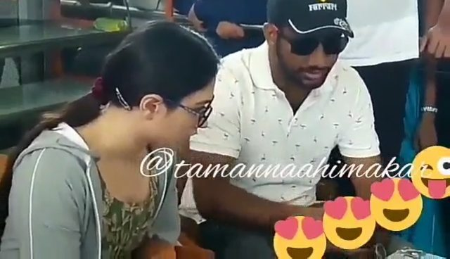 """@tamannaahspeaks mam and Director prashanth varma sir at thatismahalakshmi ( queenremake ) Tamannaah mam looki..."