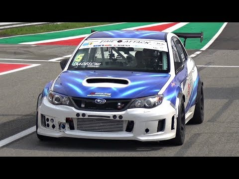 600HP Subaru WRX STi Time Attack Build with Precision Turbo 6-Speed Sequential ONBOARD @ Monza!