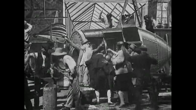 O.v.r.Путешествие на луну (1902) Франция. Комедия, фантастика. Короткометражка. Немой, с пояснениями на английском языке