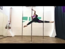 Вращение на статике Pole dance style