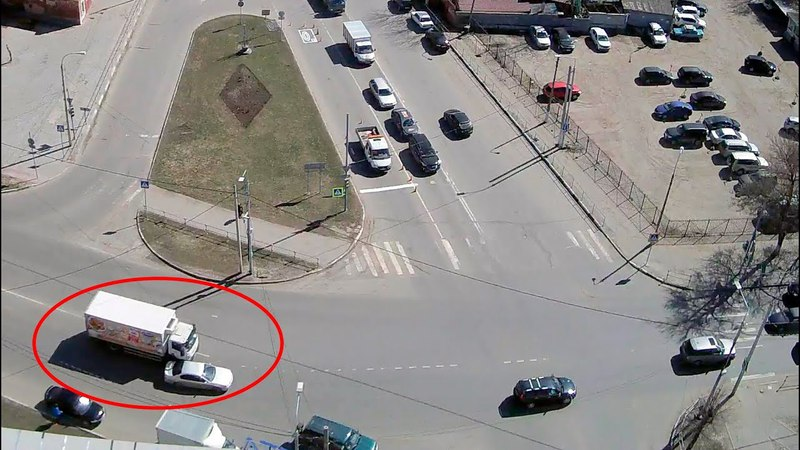 ДТП в Серпухове. Не заметил грузовик... 12 апреля 2018г.
