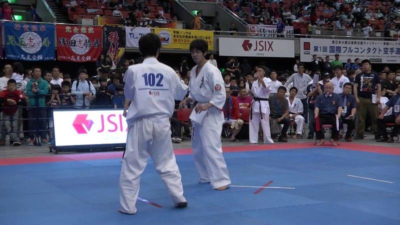 【JFKO】第1回国際フルコンタクト空手道選手権大会 男子軽量級 1回戦Dブ