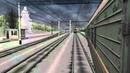 Мультиплеер OpenRails ч.1, Малахитовка 27.12.2013, поезд №0947, ЧС2-69912 почтовых вагонов