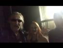 Никита Джигурда с Мариной Анисиной и Донной Луной за кулисами Пусть Говорят (2017)