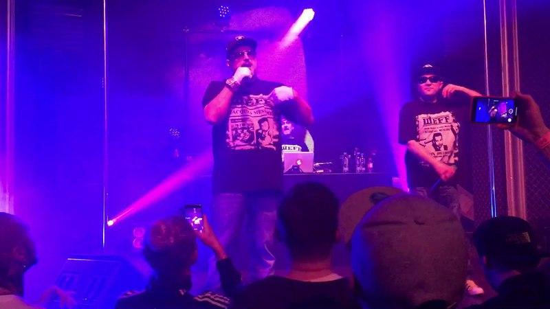 BAD BALANCE в составе ШeFF, Al Solo и DJ Топор исполнили трек Питер - я твой в Риге. (13 апреля 2018 г.) (видео)