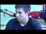 18 летний Геннадий Головкин на тренировках.