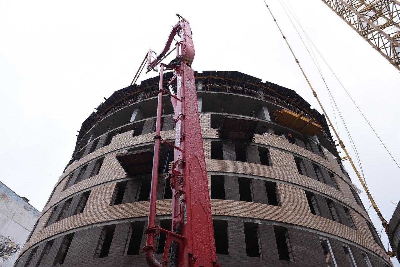 В ДГТУ продолжается строительство круглого общежития и социального блока
