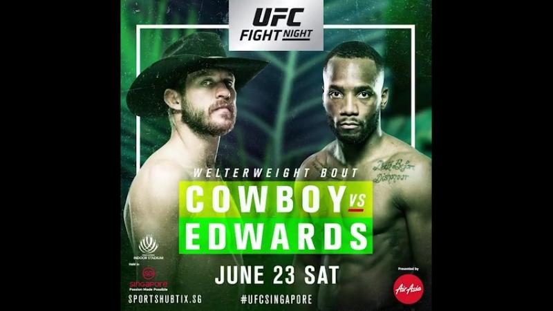 Give us your prediction for @CowboyCerrone vs. @Leon_EdwardsMMA at UFCSingapore this Saturday!