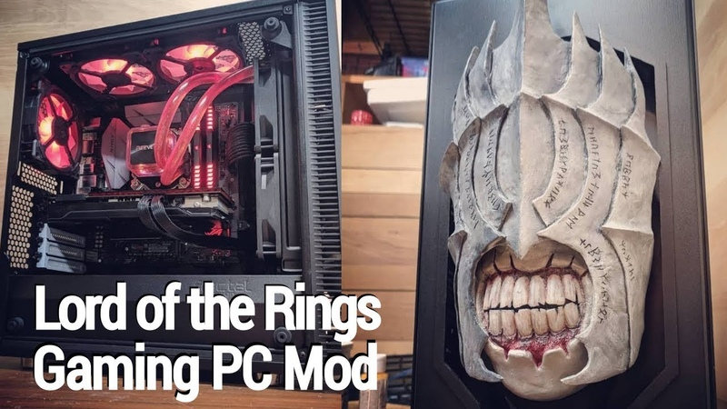Modded Gaming PC: Lord of the Rings Case Mod Timelapse