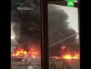 Очевидцы сняли на видео пожар в ТЦ Оренбурга