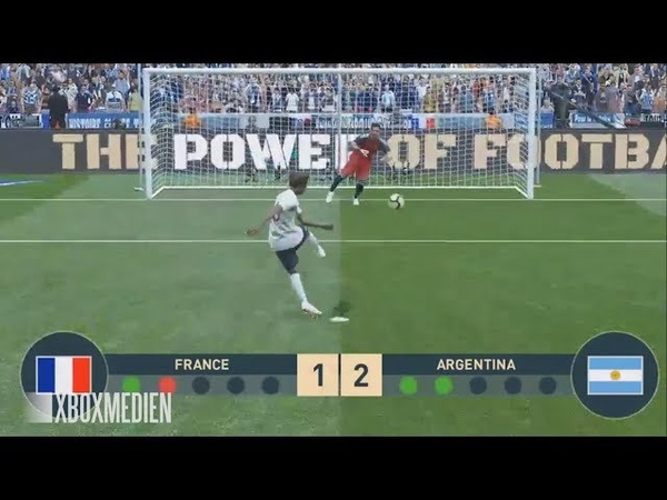 PES 2019 NEW Penalty Shootout System Gameplay France vs Argentina Xbox One PS4 PC