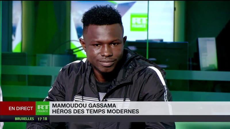 «Je nai pas eu peur» Mamoudou Gassama, le spiderman du XVIIIe, raconte son parcours à RT