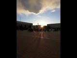 Акция памяти жертв трагедии в Кемерово. Площадь Новополоцка