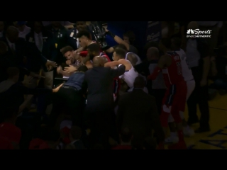 Take a closer look as it appears Kelly Oubre Jr. lands a punch to Klay's face during the scrum
