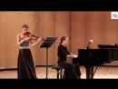 Э. Григ Соната для скрипки и фортепиано №2 G-dur op.13 (1 часть) исп. А.Чехова скрипка Ю.Свешникова фортепиано