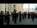 Репетиция духового оркестра с одним из фабрикантов на подступах к Зимнему дворцу Санкт-Петербург