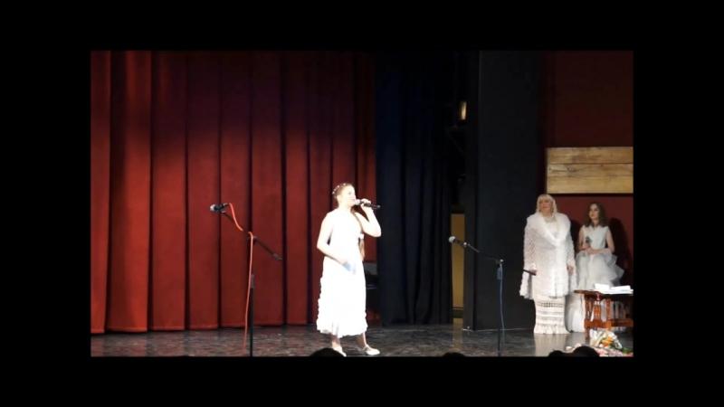 За тихой рекою.Поет Анастасия Ригина, педагог Шумилкина Г.В. mp4