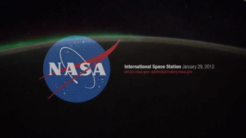 Удивительное зрелище на землю из космоса в ночи Planet Erde aus dem Weltraum