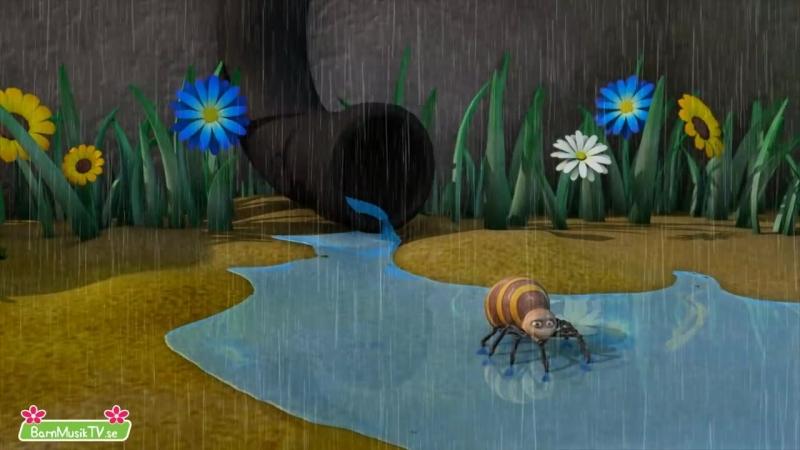 Imse Vimse Spindel - Barnmusik TV.se - Itsy Bitsy Spider in Swedish